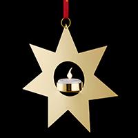 GOLDEN LIGHT STERN MIT TEELICHT 17CM 26312 -Abverkaufsartikel-