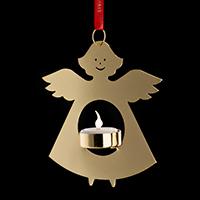 GOLDEN LIGHT ENGEL MIT TEELICHT 14CM 26315 -Abverkaufsartikel-