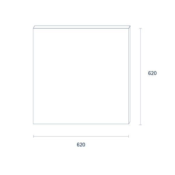 Panel Einbau HCL SKY 620mm weiss 120W 2500-10000K IP50 Ra95