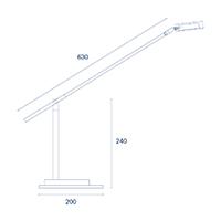 Vorschau: Tischleuchte DONNA 1flg. weiss 8,6W 2700K IP20 950lm Ra90