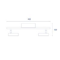 Vorschau: Deckenleuchte DONNA 2flg. nickel 9,6W 2700K IP20 1000lm Ra90