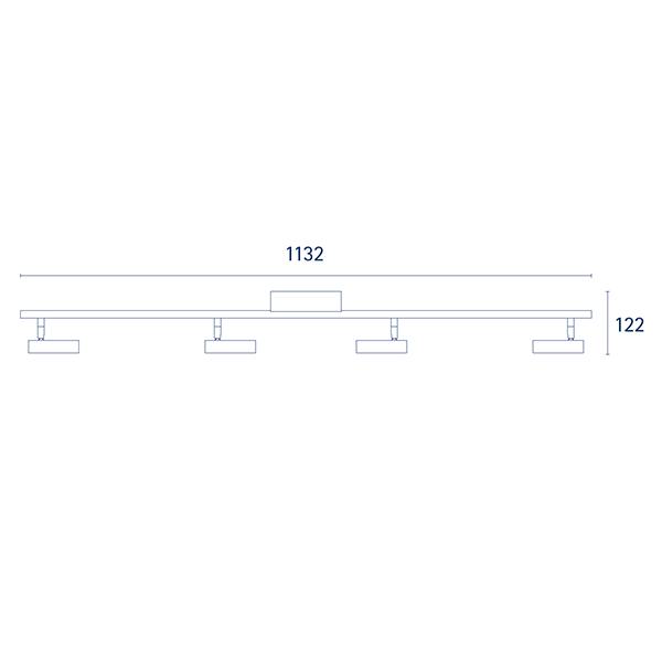 Deckenleuchte DONNA 4flg. nickel 19,2W 2700K IP20 2000lm Ra90