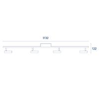 Vorschau: Deckenleuchte DONNA 4flg. nickel 19,2W 2700K IP20 2000lm Ra90
