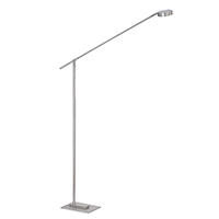 8,6W LED DONNA Floor 1FLG FARBE: NICKEL 2700K DIM