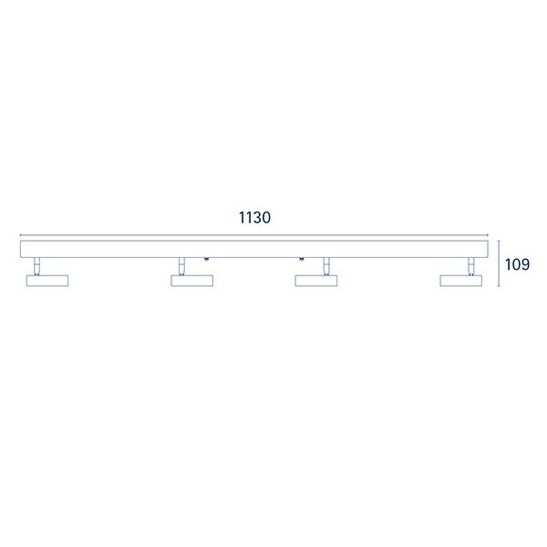Deckenleuchte DON 4flg. weiss 19,2W 2700K IP20 2000lm Ra90