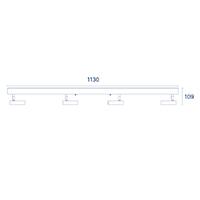 Vorschau: Deckenleuchte DON 4flg. nickel 19,2W 2700K IP20 2000lm Ra90
