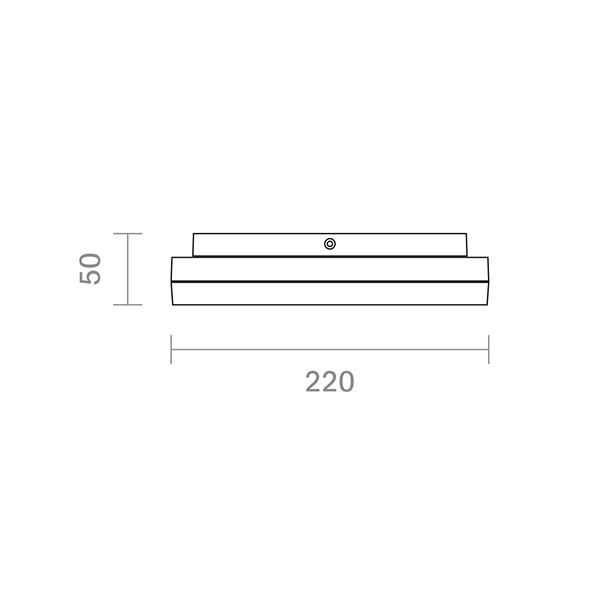 Aufbauleuchte CIRCEL 220mm silber 15W 3000K IP44 110° 1000lm Ra80