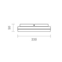 Vorschau: Aufbauleuchte CIRCEL 220mm silber 15W 4000K IP44 110° 1000lm Ra80
