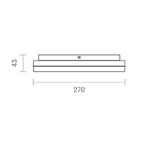 Vorschau: Aufbauleuchte CIRCEL 270mm silber Sensor 18W 3000K IP20 110° 1100lm Ra80