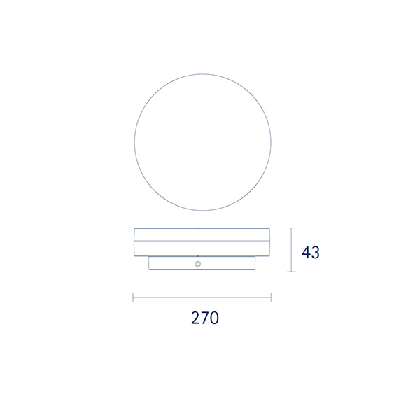 Aufbauleuchte CIRCEL 270mm silber Sensor 18W 4000K IP20 110° 1150lm Ra80
