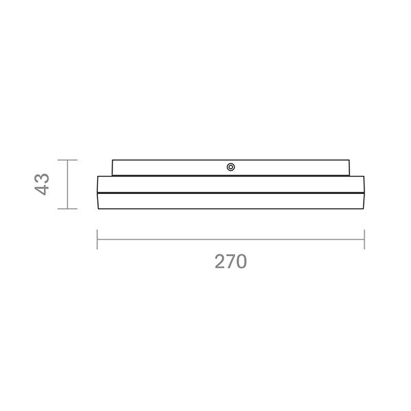 Aufbauleuchte CIRCEL 270mm silber 29W 3000K IP20 110° 1850lm Ra80 dim