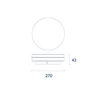 Vorschau: Aufbauleuchte CIRCEL 270mm weiss 29W 4000K IP20 110° 1850lm Ra80