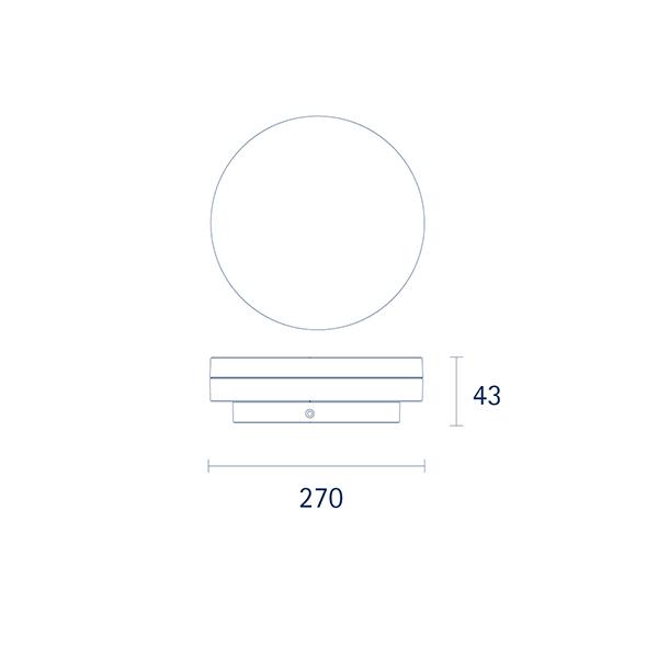 Aufbauleuchte CIRCEL 270mm weiss 29W 3000K IP20 110° 1950lm Ra80
