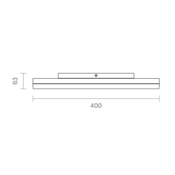 Aufbauleuchte CIRCEL 400mm silber 38W 3000K IP20 110° 2600lm Ra80
