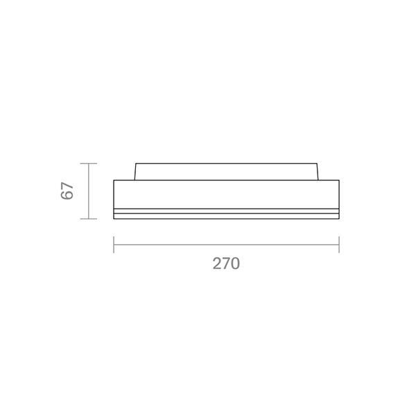 Aufbauleuchte SPLIT 270mm silber 18/24W 3000/4000K IP54 110° 1800/2400lm