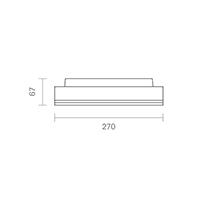 Vorschau: Aufbauleuchte SPLIT 270mm silber 18/24W 3000/4000K IP54 110° 1800/2400lm