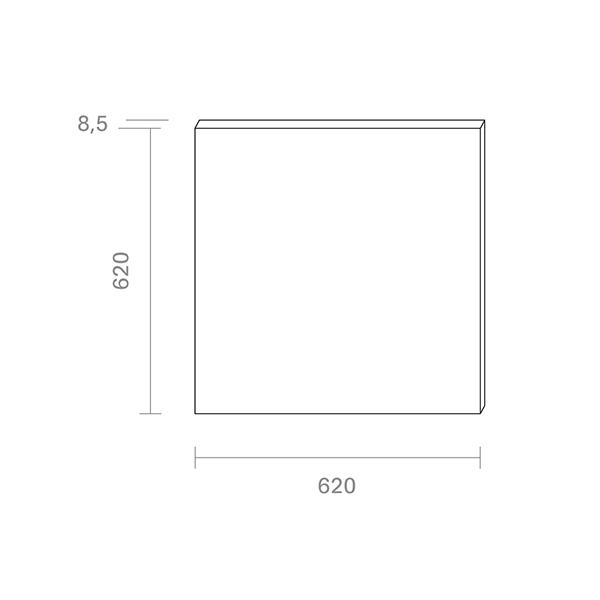 Panel Einbau FLED 620x620mm weiss UGR<22 36W 4000K IP20 120° 3200lm Ra80