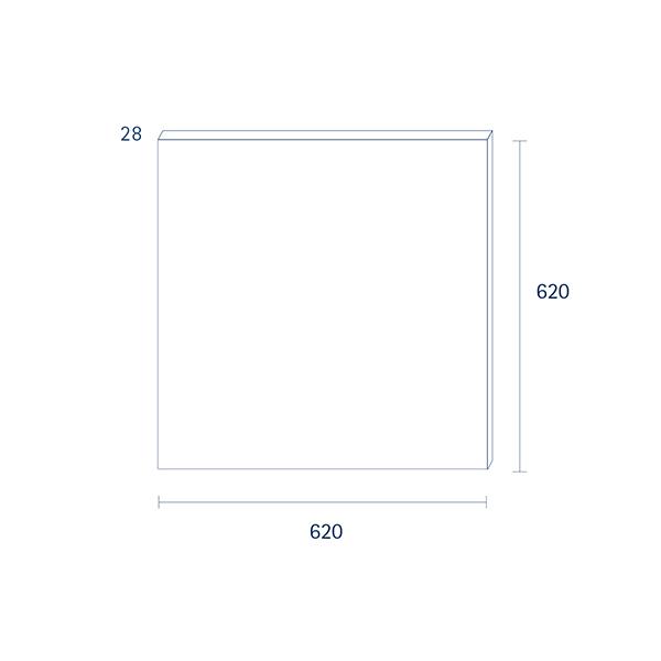 Panel Einbau FLED 620x620mm weiss UGR<19 40W 3000K IP20 120° 3200lm Ra80
