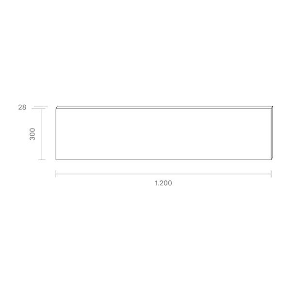 Panel Aufbau FLED 1200x300mm weiss UGR<22 36W 3000K IP20 120° 4000lm Ra80