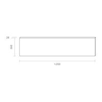 Vorschau: Panel Aufbau FLED 1200x300mm weiss UGR<22 36W 4000K IP20 120° 4000lm Ra80