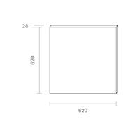 Vorschau: Panel Aufbau FLED 620x620mm weiss UGR<19 36W 4000K IP20 120° 3200lm Ra80