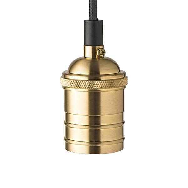 Pendelleuchte VINTAGE 1flg. goldfarben E27 Kabellänge 1200mm Sockeldurchm. 44mm