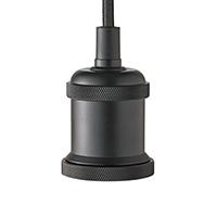 Pendelleuchte VINTAGE 1flg. schwarz E27 Kabellänge 1200mm Sockeldurchm. 50mm