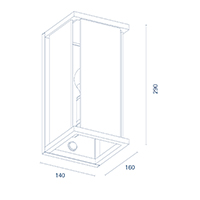 Vorschau: Wandleuchte NULATERN anthrazit Sensor IP54 E27