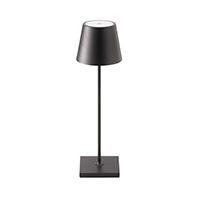 Vorschau: Akku-Tischleuchte NUINDIE 380mm schwarz rund 2,2W 2700K IP54 180lm Ra85 dim