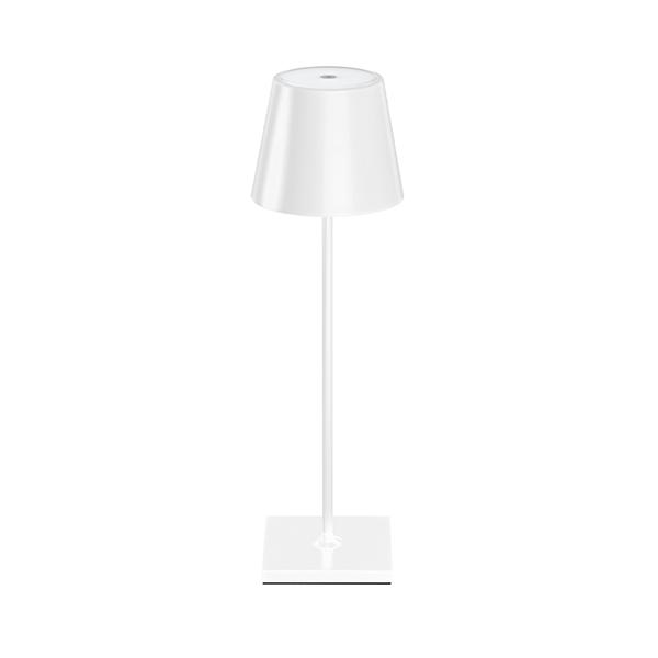 Akku-Tischleuchte NUINDIE 380mm weiß rund 2,2W 2700K IP54 180lm Ra85 dim