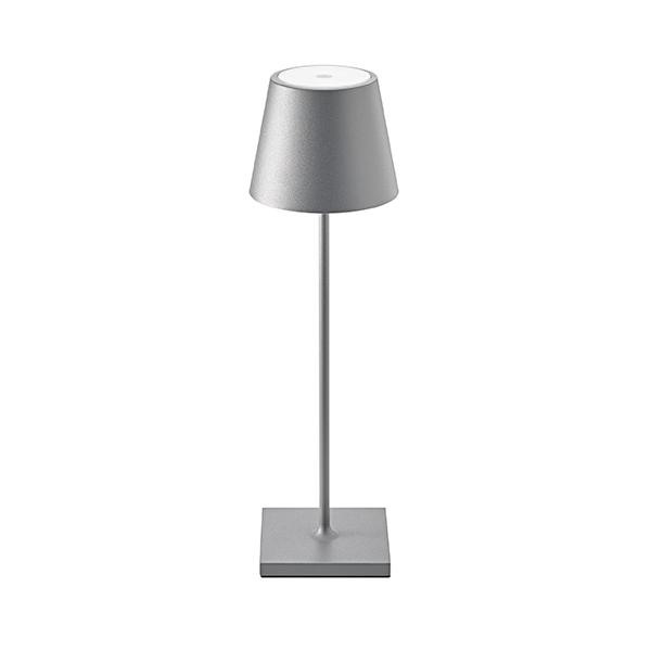 Akku-Tischleuchte NUINDIE 380mm anthrazit rund 2,2W 2700K IP54 180lm Ra85 dim