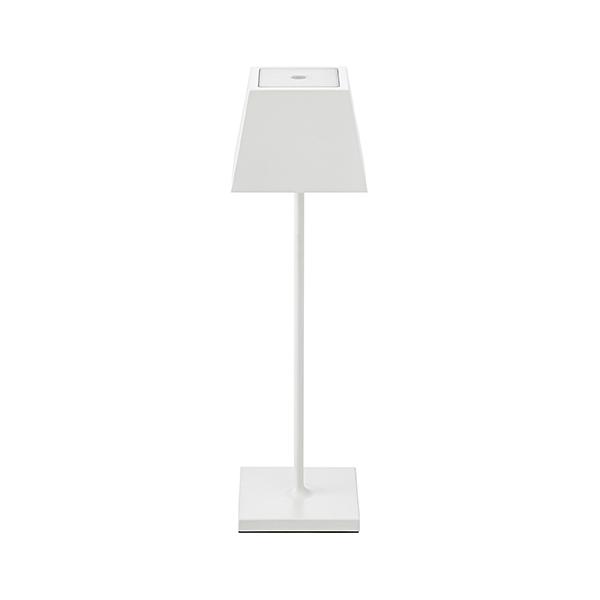 Akku-Tischleuchte NUINDIE 370mm weiß eckig 2,2W 2700K IP54 180lm Ra85 dim