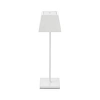 Vorschau: Akku-Tischleuchte NUINDIE 370mm weiß eckig 2,2W 2700K IP54 180lm Ra85 dim