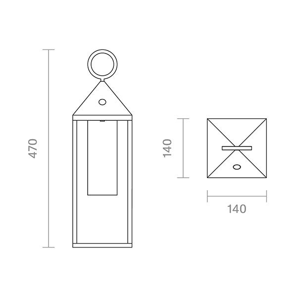 Akku-Tischleuchte NUPHARE 470mm weiss 2,2W 2700K IP54 180lm Ra85 dim
