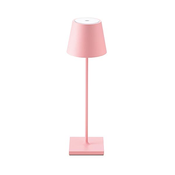 Akku-Tischleuchte NUINDIE 380mm rosa rund 2,2W 2700K IP54 180lm Ra85 dim