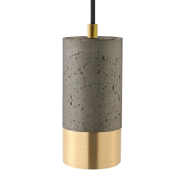 Pendelleuchte CONCRETE dunkel 1flg. goldfarben GU10 Kabellänge 1900mm Sockeldurchm. 80mm