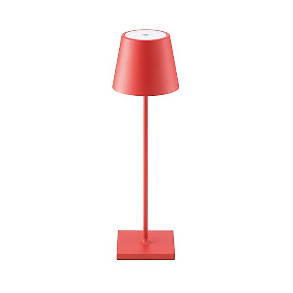 Akku-Tischleuchte NUINDIE 380mm rot rund 2,2W 2700K IP54 180lm Ra85 dim