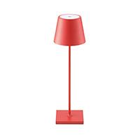 Vorschau: Akku-Tischleuchte NUINDIE 380mm rot rund 2,2W 2700K IP54 180lm Ra85 dim