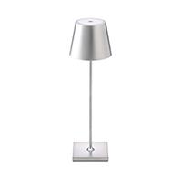 Vorschau: Akku-Tischleuchte NUINDIE 380mm silber rund 2,2W 2700K IP54 180lm Ra85 dim