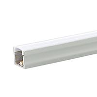 RAL 7035 lichtgrau feinstrukuriert matt Pulverbeschichtung ALU-Profil 1m