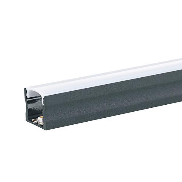 RAL 7016 anthrazitgrau feinstrukuriert matt Pulverbeschichtung ALU-Profil 1m