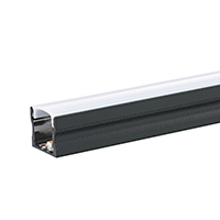 Vorschau: RAL 9005 tiefschwarz feinstrukuriert matt Pulverbeschichtung ALU-Profil 1m