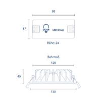 Vorschau: Einbauleuchte ARTEMI 130mm weiss 12W 3000-2100K IP20 70°/140° 450Lm Ra90 dtw