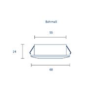 Vorschau: Einbauleuchte HALED 68mm alu gebürstet 4W 2700K IP20 36° 260lm Ra90