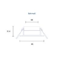 Vorschau: Einbauleuchte HALED 85mm alu gebürstet 6W 2700-2300K IP20 36° 400lm Ra90 dtw schwenkbar