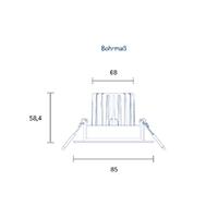 Vorschau: Einbauleuchte HALED 85mm alu gebürstet 10W 2700-2300K IP20 36° 620lm Ra95 dtw schwenkbar
