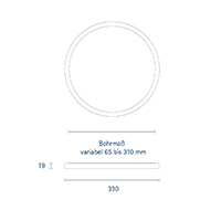 Vorschau: Aufbauleuchte FLED Downlight 330mm weiss 30W 3000/4000/5000K IP20 110° 2700-3000lm RA90