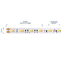 Vorschau: 14,4W/m Dim to Warm LED Streifen 3500-2100K 5m 120 LED/m IP67 24V 1459lm RA80