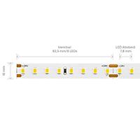 Vorschau: 19,2W/m EXPERT Long Distance LED-Streifen 2700K 128 LED/m IP20 24V 2208lm RA90 laufender Meter