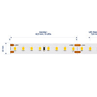 Vorschau: 19,2W/m EXPERT Long Distance LED-Streifen 3000K 128 LED/m IP20 24V 2246lm RA90 laufender Meter